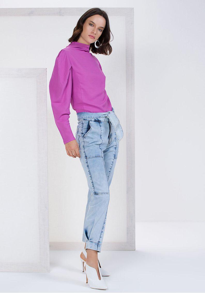 Calça Jogging Jeans Marmorizado