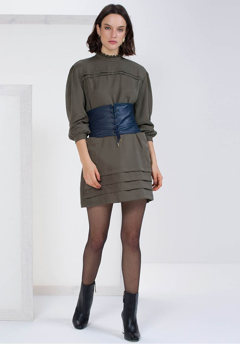 Vestido Manga Longa Tencel